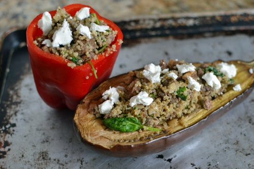 Eggplant Stuffed with Quinoa and Goat Cheese 4