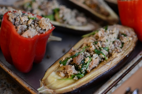 Eggplant Stuffed with Quinoa and Goat Cheese 5